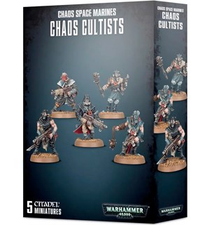 Chaos Space Marines Chaos Cultists Warhammer 40K - Easy to build
