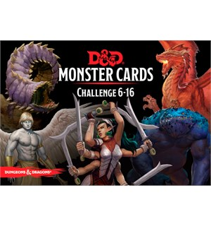 D&D Cards Monster Challenge 6-16 Dungeons & Dragons - 125 kort