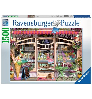 Ice Cream Shop 1500 biter Puslespill Ravensburger Puzzle