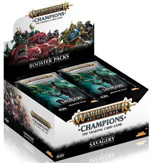 Age of Sigmar TCG Savagery Display Champions Trading Card Game - 24 booster