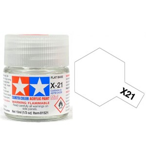 Akrylmaling MINI X-21 Flat Base Tamiya 81521 - 10ml