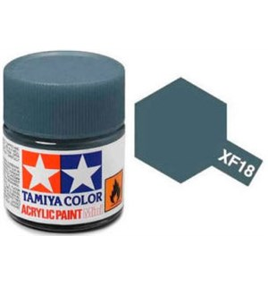 Akrylmaling MINI XF-18 Medium Blue Tamiya 81718 - 10ml