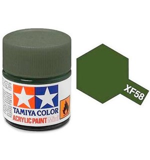 Akrylmaling MINI XF-58 Olive Green Tamiya 81758 - 10ml