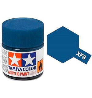 Akrylmaling MINI XF-8 Flat Blue Tamiya 81708 - 10ml