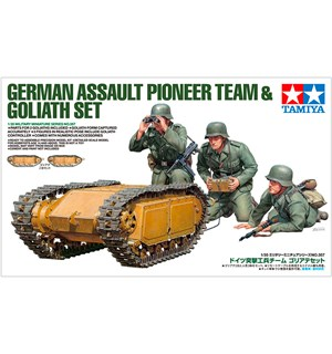 German Assault Pioneer Team & Goliath Tamiya 1:35 Byggesett