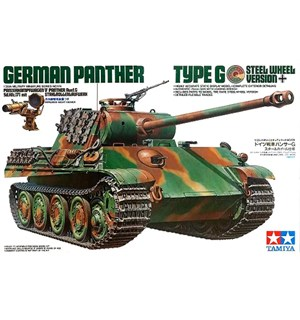 German Panther Type G Steel Wheel Ver. Tamiya 1:35 Byggesett