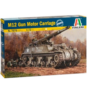 M12 Gun Motor Carriage Italeri 1:72 Byggesett