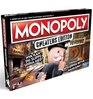 Monopoly Cheaters Edition Norsk Utgave