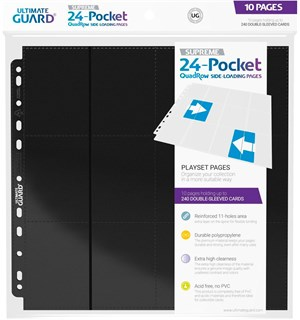 Plastlomme 24-Pocket SupremeQuadro10stk Side-Loading Ultimate Guard