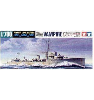 Royal Australian Navy Destroyer Vampire Tamiya 1:700 Byggesett