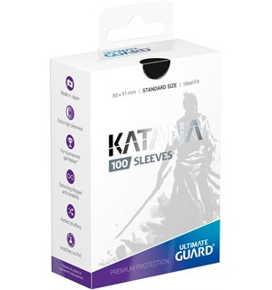 Sleeves Katana Svart 100 stk 66x91 Ultimate Guard Kortbeskytter/DeckProtect