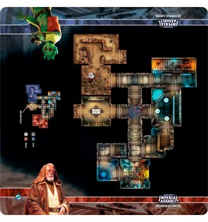 Star Wars IA Anchorhead Cantina Playmat Imperial Assault Skirmish Map 66X66 cm