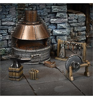 Terrain Crate Blacksmiths Forge Fra Mantic Games - 6 deler