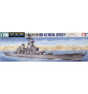 US Navy Battleship New Jersey BB-62 Tamiya 1:700 Byggesett