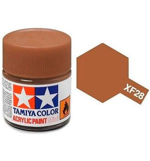 Akrylmaling MINI XF-28 Dark Copper Tamiya 81728 - 10ml