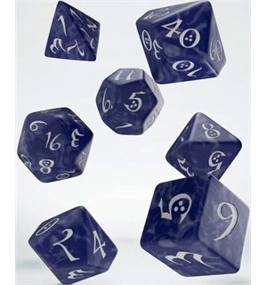 RPG Dice Set Cobalt/White Terninger til rollespill - 7 stk