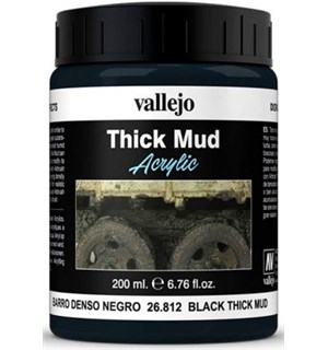 Vallejo Texture Black Mud 200ml Thick Mud Texture Acrylic