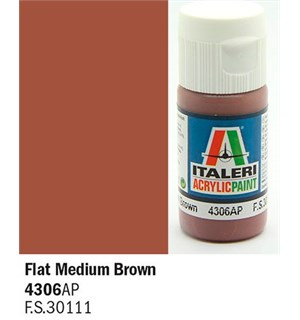 Akrylmaling Flat Medium Brown Italeri 4306AP - 20 ml