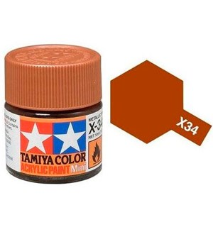 Akrylmaling MINI X-34 Metal Brown Tamiya 81534 - 10ml
