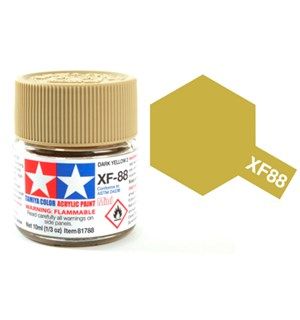 Akrylmaling MINI XF-88 Dark Yellow 2 Tamiya 81788 - 10ml