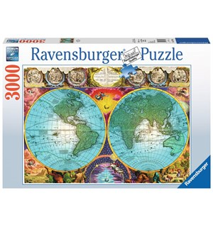 Antique Map 3000 biter Puslespill Ravensburger Puzzle