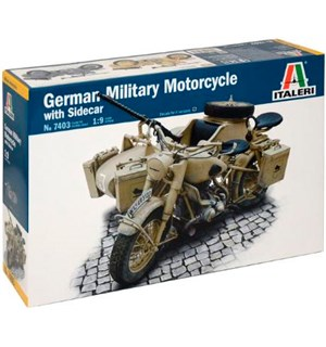 BMW R75 German Military Motorcycle Italeri 1:9 Byggesett