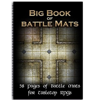 Book Of BattleMats BIG - 58 sider Spiralinnbundet - 2,5 cm rutenett