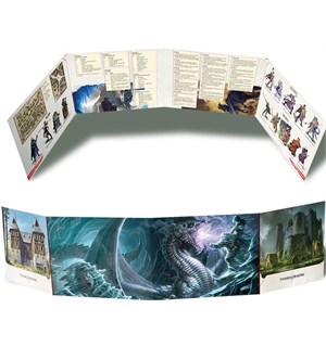 D&D DM Screen Elemental Evil Dungeons & Dragons Dungeon Master
