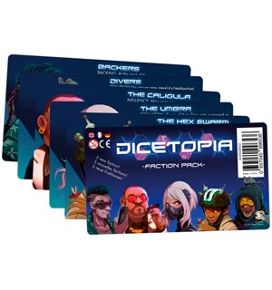 Dicetopia Faction Pack Expansion Utvidelse til Dicetopia