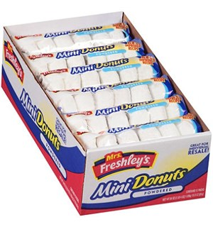 Donuts Mini Powdered Eske 12 pk.x 6 stk 72 stk. Mini Donuts