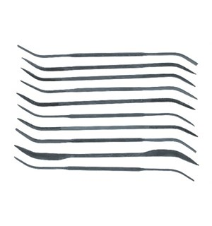 Fil Buet Curved File Set - 10 stk Vallejo