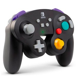 Gamecube Wireless Controller Switch Sort Trådløs Bluetooth Kontroller fra PowerA