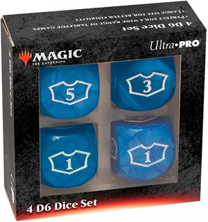 Magic Loyalty Dice 4 D6 Dice Set - Blue