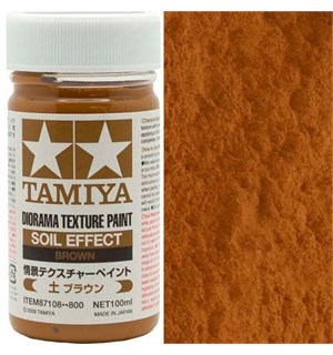 Tamiya Texture Paint - Brown 100ml Soil Effect