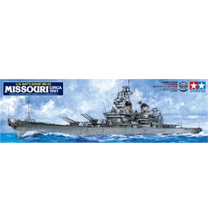 US Battleship BB-63 Missouri Circa 1991 Tamiya 1:350 Byggesett