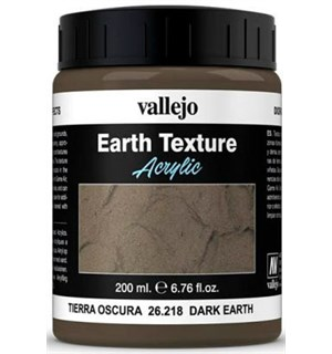 Vallejo Texture Dark Earth 200ml Earth Texture Acrylic