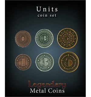 Legendary Metal Coins Units Set