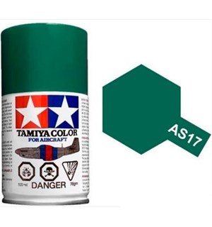 Tamiya Airspray AS-17 Dark Green Tamiya 86517 - 100ml