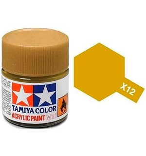 Akrylmaling MINI X-12 Gold Leaf Tamiya 81512 - 10ml