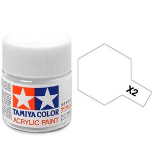 Akrylmaling MINI X-2 White Tamiya 81502 - 10ml