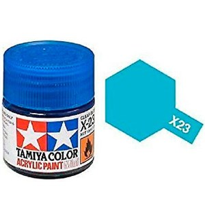 Akrylmaling MINI X-23 Clear Blue Tamiya 81523 - 10ml
