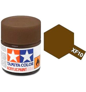 Akrylmaling MINI XF-10 Flat Brown Tamiya 81710 - 10ml