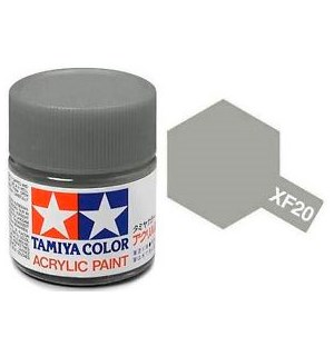 Akrylmaling MINI XF-20 Medium Grey Tamiya 81720 - 10ml