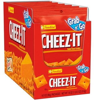 Cheez-It Crackers Original - 6 poser En hel kartong med Cheez-It