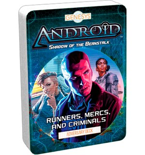 Genesys Android Runners Mercs & Criminal Adversary Deck til Genesys RPG