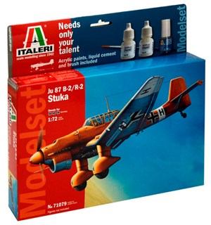 Ju 87 B-2/R-2 Stuka Start Set - Komplet Italeri 1:72 Byggesett