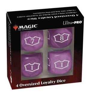 Magic Loyalty Dice 4 D6 Dice Set Lilla Deluxe 22mm Mana terningsett