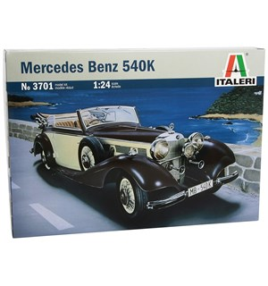 Mercedes Benz 540K Italeri 1:24 Byggesett