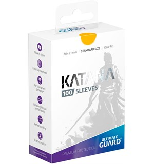Sleeves Katana Gul 100 stk 66x91 Ultimate Guard Kortbeskytter/DeckProtect