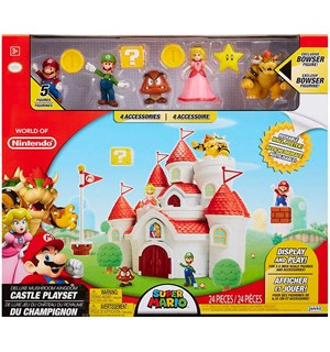 Super Mario Playset Mushroom Castle Deluxe Edition